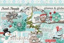 {Glisten & Glide} Digital Scrapbook Kit by Digilicious Design