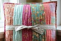 Quilted Pillows / by Gladys Foster