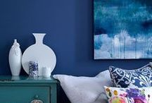 Color Focus - In the Navy / Navy, Indigo, Denim and Blueberry. / by York Home