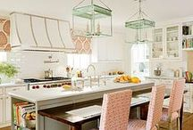 { culinary } / In these kitchens, your souffles don't fall, nothing ever burns, and your kitchen (including those white marble counters) cleans itself.  Clean lines and gorgeous details make these kitchens the heart of the home!  For more home inspiration, recipes, and entertaining tips check out Posh Purpose!  http://poshpurpose.blogspot.com