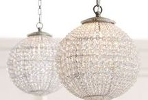 { luxe lighting } / Light up a room with a beautiful chandelier or lamp!  I'm obsessed with bold and glitzy chandeliers.  Let's decorate!  For more glamorous obsessions and home inspiration, check out Posh Purpose!  http://poshpurpose.blogspot.com