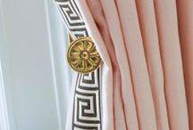 { curtain call } / Pooling drapes, roman shades, and beautiful trim.  Check out Posh Purpose for more home inspiration!  http://poshpurpose.blogspot.com