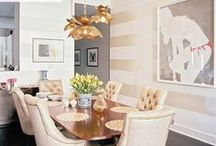 { fine dining } / Dinner parties, showers, family get togethers, and holidays all deserve an elegant and welcoming space!  Here's my collections of ideas to get you started for your next fabulous shindig.  For more home inspiration and entertaining tips, check out Posh Purpose!  http://poshpurpose.blogspot.com