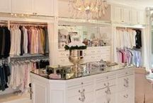 { closet envy } / My dream closet is high end, super organized, and comes with a closet island.  I'd house all my clothes from my fantasy wardrobe   (check out my {dress up} board for details!) and get dressed under a fantastic, glitzy chandelier.  For more fashion finds and home inspiration check out Posh Purpose!  http://poshpurpose.blogspot.com