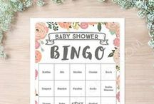 Baby Shower Games / Download our baby shower games and print out as many as you need! Easy, fun and only $5! Everyone will have a great time at your baby shower party ! Bingo, Books for Baby, Price is Right, Diaper Raffle, Celebrity Name Game, Baby Pool, Who Knows Mommy Best, What's in Your Purse and More! #babyshowergames #babyshower #bingo #diaperraffle #guessthesex