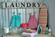 Home Inspiration : Laundry Room / Since I must wash clothes, I prefer to do it in a beautiful decor and with a little humor ;)