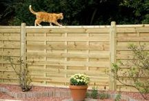 Garden Fence Panels and Trellis / A garden fence not only provides a border with a neighbours garden it can also act as a screen and frames your plants and divides activities that take place in your garden. #fencing #fence