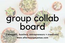 bloggers, hustlers, entrepreneurs + creatives | GROUP COLLAB / **GROUP BOARD** If you'd like an invite: 1.) please follow the board 2.) follow me (the first contributor to the right) 3.) email camryntruelove@gmail.com with your main website's URL + your Pinterest page. for inspiration, blog posts, anything to help your fellow humans.No spam, be nice, you know the drill. Cheers!