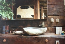 cabin bathroom / by Kathy Nichols