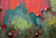 Rust Patina Peeling / Beautiful shades