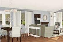 Design-in-a-box 3D Renderings for DIY Homeowners  / Http://www.simplystunningspaces.net  Interior decorating ideas Edesign