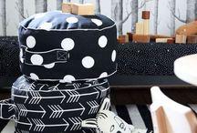 W&B geometric ornament / geometric  ornament white and  black