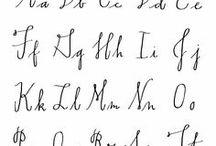 Alphabet / fonts