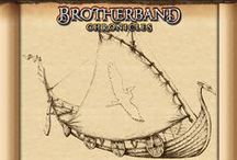"Brotherband / ""I want her badly damaged but capable of making it back to port. I want the word to go out that the strange ship with the red falcon ensign is manned by dangerous, hairy maniacs with axes and is to be avoided at all costs."" ~~Thorn"