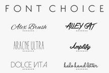 Fonts / Beautiful fonts for getting creative.