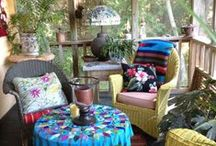 Porches Patios Decks Gardens / Wheres your fav spot at your house outside? Heres some of ours. Vote for your favorite. Pin some more here. <3 <3