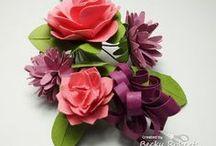 Paper Flowers / 3-D & flat paper flowers
