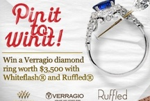 Verragio Love / Pin your dream wedding and diamond jewelry from Whiteflash for a chance to win $3,500 Verragio Engagement Ring set with a 1 carat blue sapphire from Whiteflash.com - http://www.whiteflash.com/promotions/pin-it-to-win-it-verragio-love.aspx / by Whiteflash Diamonds