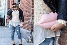 Plus size_women's street fashion / Fashion tips & ideas for plus size gals / by Ms.G