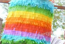 Party Ideas - Rainbows / #rainbow #party #ideas  Rainbow party decorations and Party food ideas. Rainbow Unicorn ideas