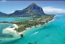 Mauritius - the island paradise / Stretches of palm fringed beaches. Warm aquamarine sea. Friendly locals. Fantastic hotels to suit every type of budget and traveller. What's not to love about Mauritius?