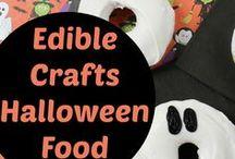 Edible Crafts - Halloween Party Food / Fun Halloween party food ideas #Halloween #party  #partyfood #quick #easy #fun #bbq #scary