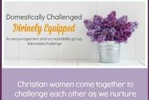 Homemaking for the Domestically Challenged / This is a homemaking board collecting tips and encouragement for the Domestically Challenged; Divinely Equipped homemaking community on Facebook. Join the FB community here >> https://www.facebook.com/groups/domesticallychallenged/