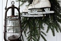 'Tis the Season...Holiday Decorations / Christmas decorations and decor ideas including wreaths, stockings, Christmas trees, fireplaces and mantles, entryways, pine boughs, pinecones, holly berry, garland, snowy scenes
