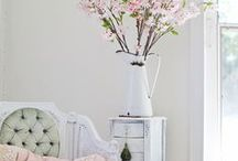 Happy Home / Home decor inspiration and ideas. Victorian, shabby chic, florals, pastels, linens, natural home, country, garden