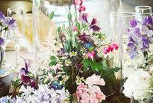Our Wedding Flowers / Wedding flowers, hydrangeas, moss, ferns, ranunculus, lavender, daisies, ivy, lilacs, floral design, floral decor, wedding floral design