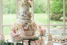 Our Wedding Cake / wedding cake, Victorian wedding cake, three-tiered cake, floral wedding cake, natural wedding cake