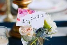 Place Cards + Menus / Wedding place cards and menus can be an important decor element.