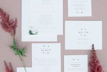 Gold & Rose Gold Wedding / Wedding invitations, day of items, personal touches