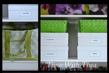 Time To Organize: Studio/Office/Craft Room / A collection of ideas for organizing a studio, office or craft room. / by Time With Thea