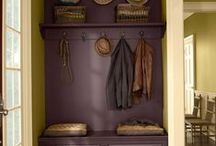 Time To Organize: Mudroom/Entrance / A collection of ideas for organizing a mudroom, hallway or front entrance. / by Time With Thea