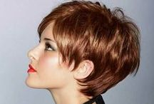 Hairstyles ~  Short & Sassy / I like mine short, layered, chunky, shaggy, textured, spiked, and feathered / by Helen Reagan