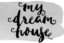 My Dream House / I can't wait to have my own house some day... For now a girl can dream, right? I love old farmhouses, white cabinets and lots of windows!