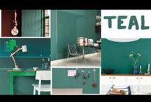 Teal: kleur van het jaar 2014 / Voor 2014 werd 'Teal' geselecteerd als Kleur van het Jaar: een gesofisticeerde tint die het midden houdt tussen harmonieus groen en verfrissend blauw. De trendkleur van het jaar is familie van het bekende turquoise, maar is wel een verfijnder en meer karaktervol alternatief. De kleur wordt al vaak gebruikt in de designwereld en doet nu ook haar intrede in de huiskamer. Met haar rustieke en tegelijk moderne karakter is dit een uitgebalanceerde trendkleur voor je woning.