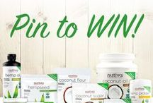 """Nutiva Recipe Contest / Pin to WIN your favorite Nutiva products! What to do: Follow Vitacost & @Nutiva on Pinterest. 2. Create a new board titled, """"My Nutiva Recipe"""" 3. Repin 1 recipe card, a Nutiva product used in that recipe and at least three other ingredients found in the recipe from our Nutiva Recipe Contest board. 4. Submit a pin from your board by clicking the main contest image for your chance to win! One randomly selected winner will receive a Nutiva Prize Pack! / by Vitacost.com"""