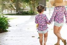 Kids Swim / Swimwear for kids and girls that protects them while they're swimming, surfing or playing in the sand. Kids swimsuits that stay put while they play.