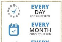 Skin Cancer Awareness / We're sharing skin cancer awareness quotes and pictures so that you can pay it forward too. Learn about skin checks, symptoms of skin cancer and how to protect yourself with SPF, sun protective clothing and more.