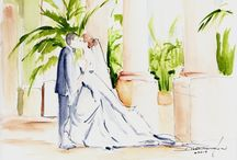 Wedding Gifts... / Drawings of weddings by Diane Bronstein