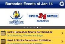 Barbados Mobile App / Find out what to do in Barbados on your mobile device with the events calendar app, which is designed for both the local and visitor to Barbados. / by Totally Barbados