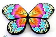 Polymer Clay Wings-Feathers / Butterflies, Dragonflies, insects, faries wings and Feathers, some have tutorials, all made from polymer clay / by Donna DeCicco