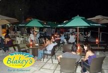 Blakeys Bar and Restaurant / Take a romantic stroll on the Barbados Boardwalk while enjoying the view of the beautiful sunset, see the turtle mural and stop at Blakeys Bar and Restaurant and enjoy your dinner under the evening sky in Barbados.  / by Totally Barbados
