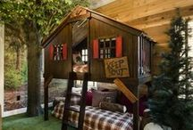 Kid Space / Playrooms, bedrooms, rec rooms, and playhouses -- spaces where kids can be kids!