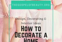 || How to Decorate a Home || / Home decorating, design inspirations, interior decorating, bedroom, living spaces, kitchen, dining, bathroom, outdoor patio, curb appeal, real estate