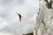 Extreme Adventures / Pictures of people who take adventure to the limit! Some of this stuff makes climbing look tame! Highlines, extreme skiing, canyoneering, surfing, slacklining, via ferratas, scary hiking, caving, whitewater and more!