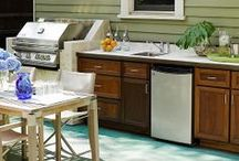 Outdoor Kitchens and Living Spaces / Our Southern California weather offers the opportunity to merge indoor and outdoor living year-round, and great outdoor kitchens and living spaces can be as simple or elaborate as you want.