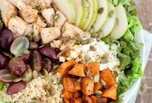 * Salads / Salads that are mostly veggies, but may have yummy things like fruits, nuts or meats in them too! And salad dressings to go with them. / by Kelly Youngberg